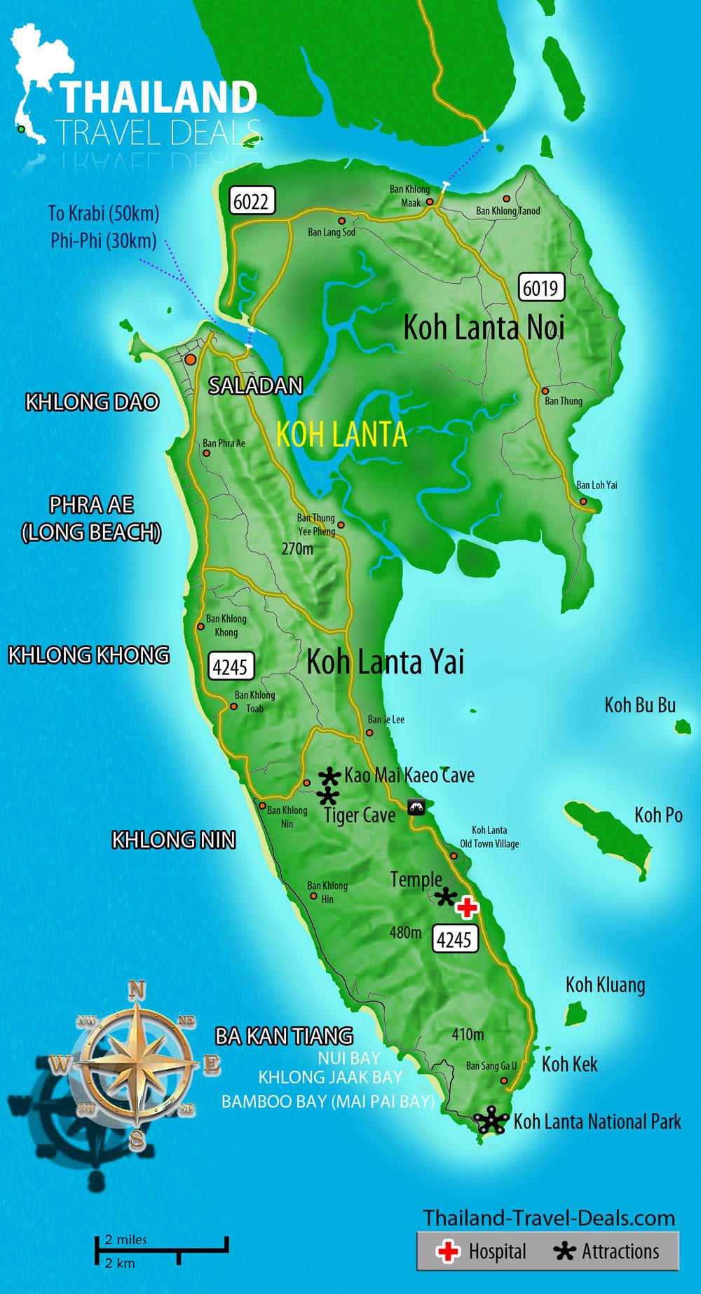Map Koh Lanta Hjemmeside Sai Name Lanta