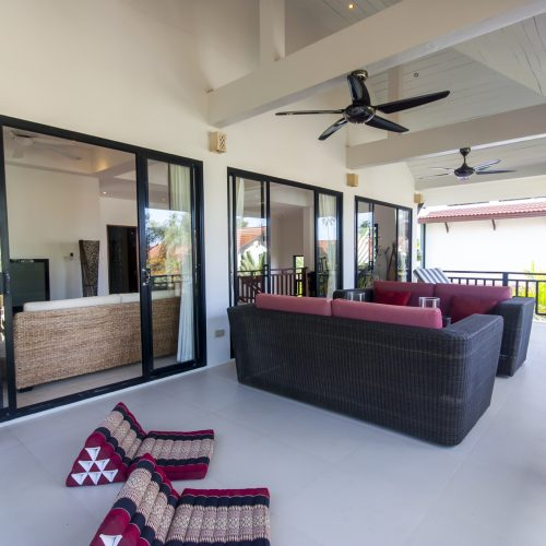 Balcony upstairs