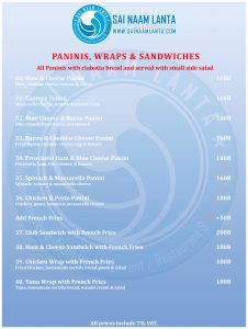 sandwiches breakfast menu