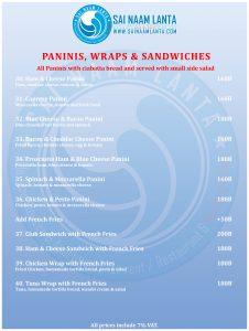 menu du restaurant paninis 3