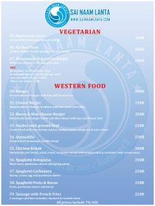 Vegetarisches Restaurant mit westlicher Küche