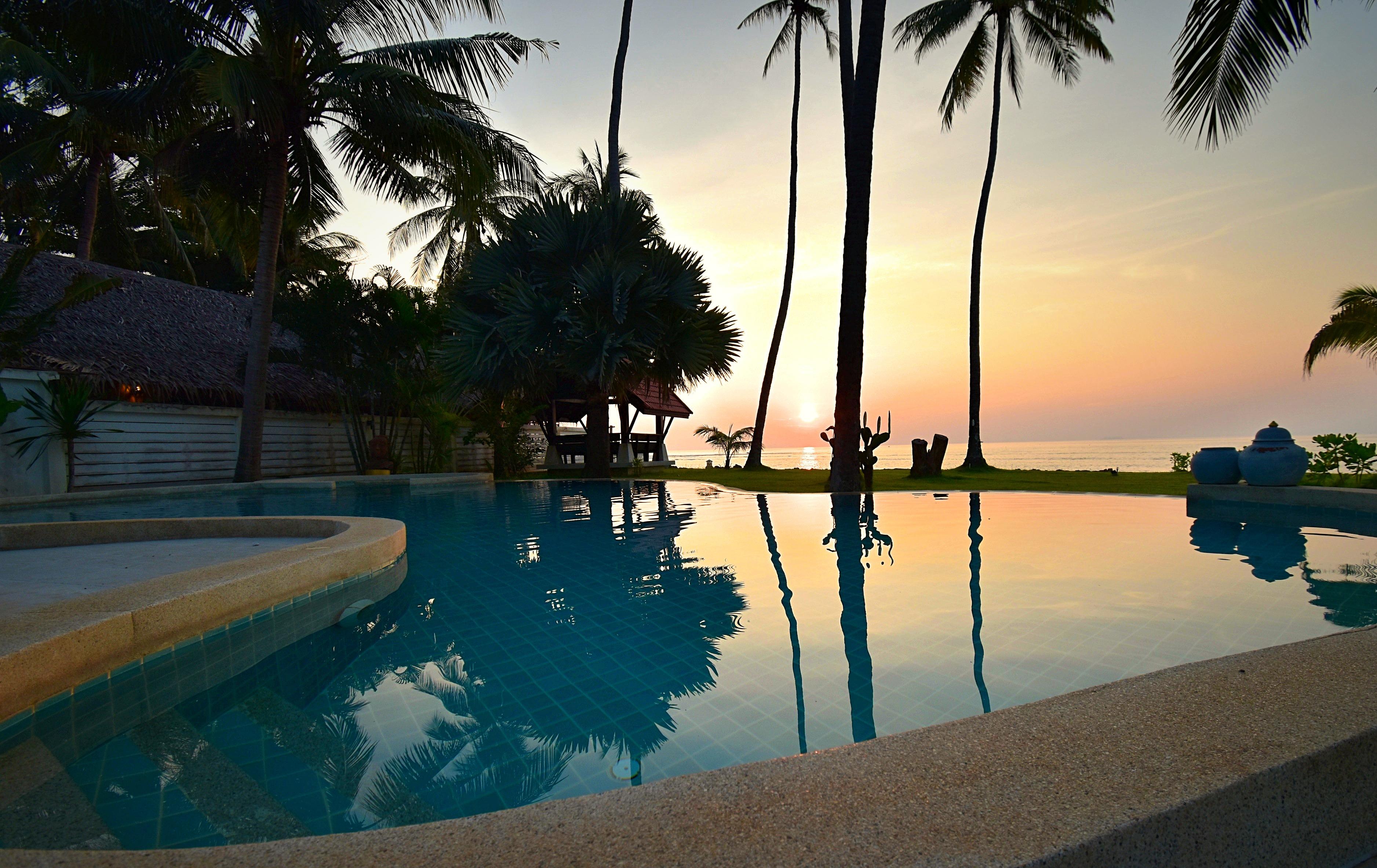 Malee Beach Villa De Luxe Sur La Plage Avec Piscine E1 Sai